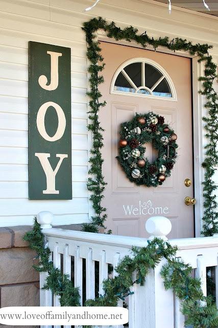 """DIY ... """"JOY"""" sign for front door entry"""