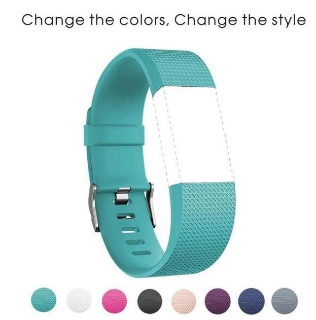 Sport Strap Heart Rate Bands For Fitbit Charge 2 HR Fitness Wristband-Teal New #iSUN
