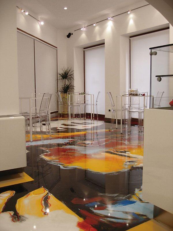 #Pavimenti in #resina artistici e decorati: guardate la gallery fotografica con alcuni pavimenti davvero particolari!