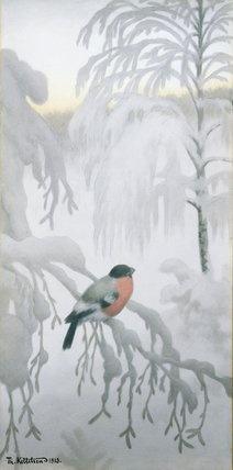 """Bullfinch, 1913 ""  Kittelsen, Theodor Severin"