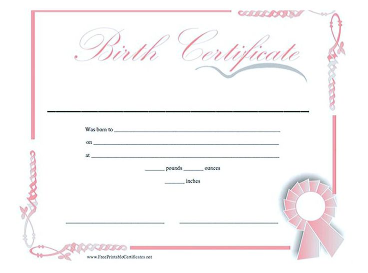 25 best ideas about Birth Certificate – Birth Certificate Template