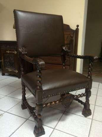 Старинное кресло кожаное кресло ТРОН мебель из Голландии Винница - изображение 1