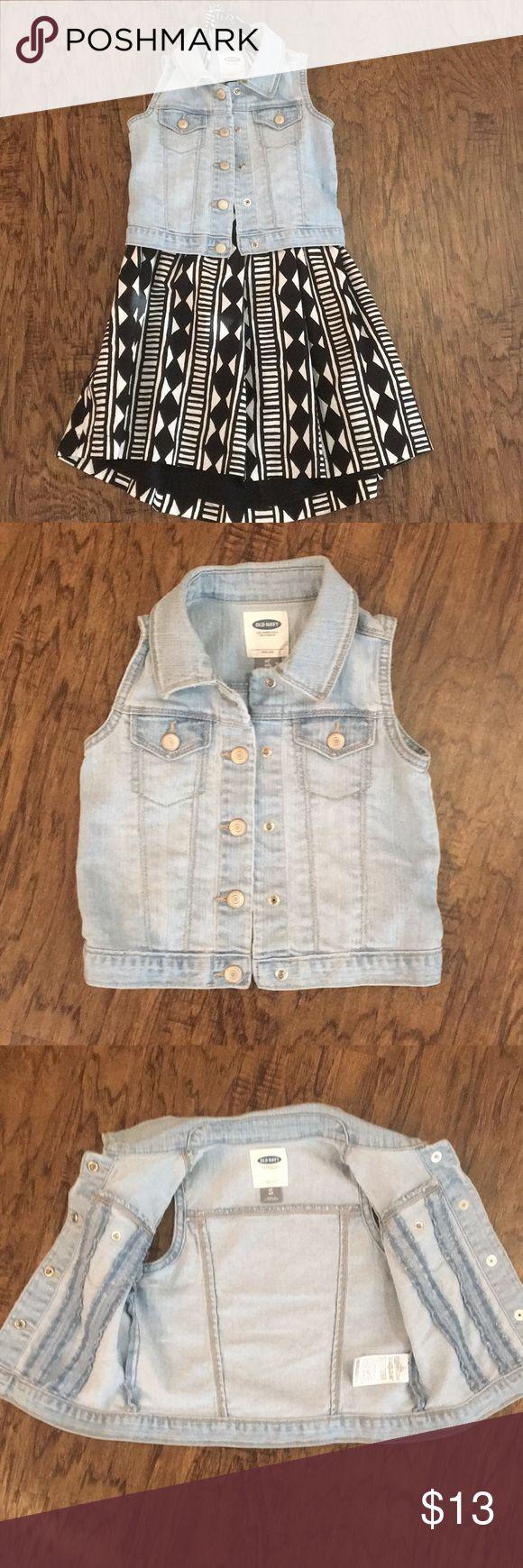 Toddler Blue jean vest Toddler Blue jean button down vest Jackets & Coats Vests