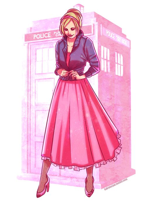 I absolutely loved when she dressed like that. Normally I couldn't care less about her clothes, but it really reminded me that, before the doctor, she wasn't this strong bad wolf, she was just a girl, trying to get through a days work