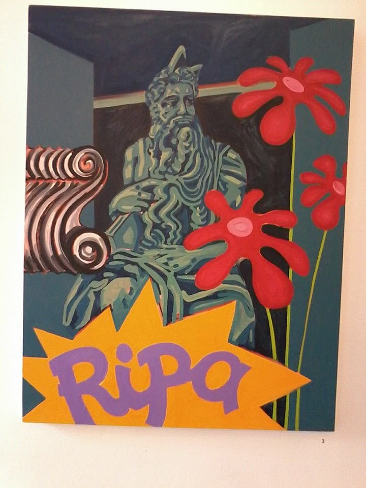 'Ripa', oil on canvas.