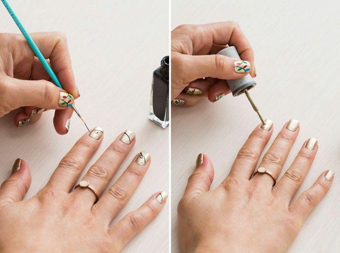Les 256 meilleures images du tableau ongles d co sur pinterest for Decoration ongle noel