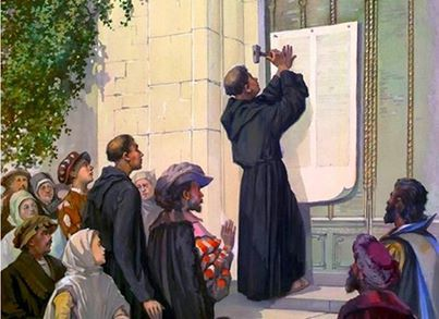 October 31, 1517 - Martin Luther posts 95 theses on Wittenberg church - precipitates the Protestant Reformation