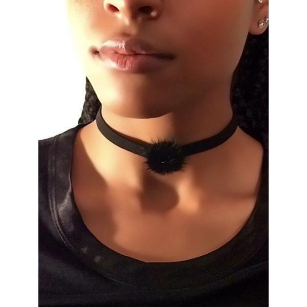 Black Pom Pom Choker – JV Accessories