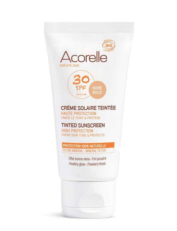 Crème solaire teintée Haute Protection SPF 30, 23 €, Acorelle