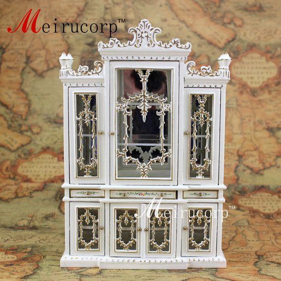 Puppenhaus 01:12 skalieren Miniaturmöbel handbemalt Esszimmer Schrank