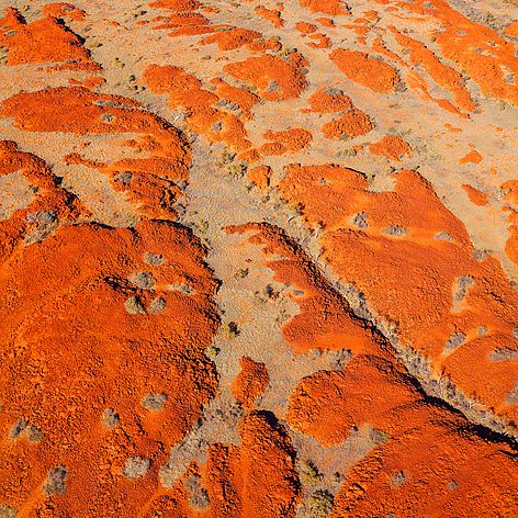Aerial of Burrup Peninsula, Western Australia.