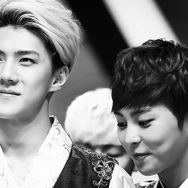 Xiumin And Sehun 170 best images about ...