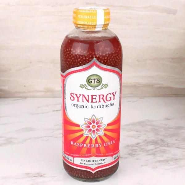 GT'S Synergy Kombucha Organic Raspberry Chia