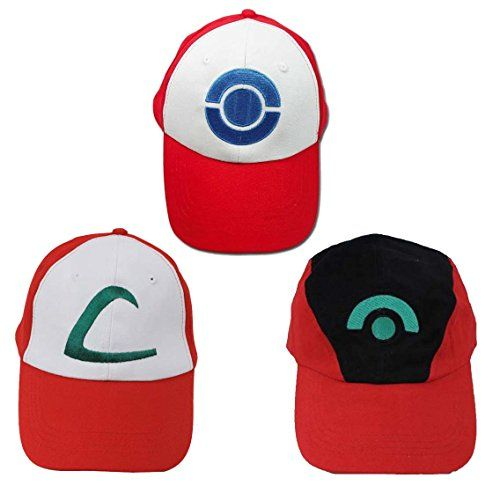 Ash Ketchum Hat Cap Set for Adult 3 Styles TinyBox http://www.amazon.com/dp/B00KYQ8CR8/ref=cm_sw_r_pi_dp_hM00wb1ANCEPT