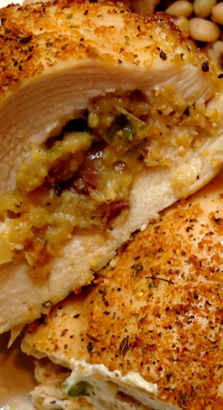 Savory Southern Stuffed Chicken Breasts ~ A mouthful of savory taste... That is what this recipe is all about – a homecoming of flavor.