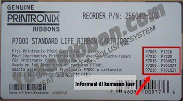 Ribbon Printronix P7205 Cartridge dengan reorder P/N.255049-103 dgn Page yield per cartridge 17.000.  Ribbon Printronix P7205 bisa dipakai untuk Ribbon Printronix P7005,  ribbon printronix P7015, ribbon printronix P7010ZT, ribbon printronix P7210, ribbon printronix P7215, ribbon printronix P7220, ribbon Printronix P7205. Harga dan Spesifikasi Ribbon Printronix P7205 ada disini