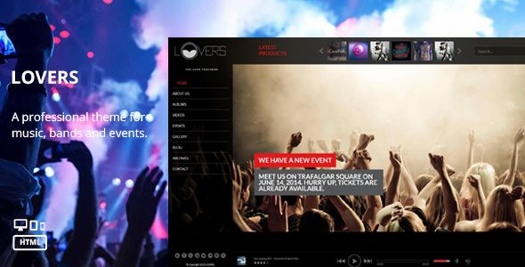 Lovers - Beautiful Music HTML Template