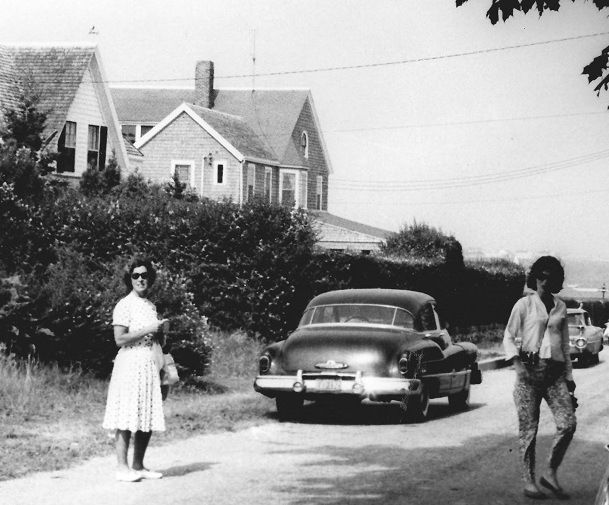 Jackie Kennedy, right, and her mother, on Irving Street outside her home in the Kennedy Compound.