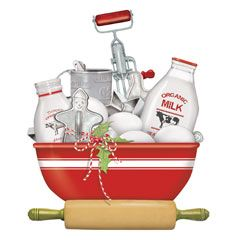Holiday Red Bowl