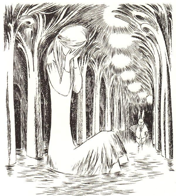 Tove Jansson's Rare Vintage Illustrations for Alice in Wonderland via Brain Pickings