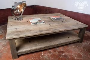 Chehoma : Table basse à losanges métalliques