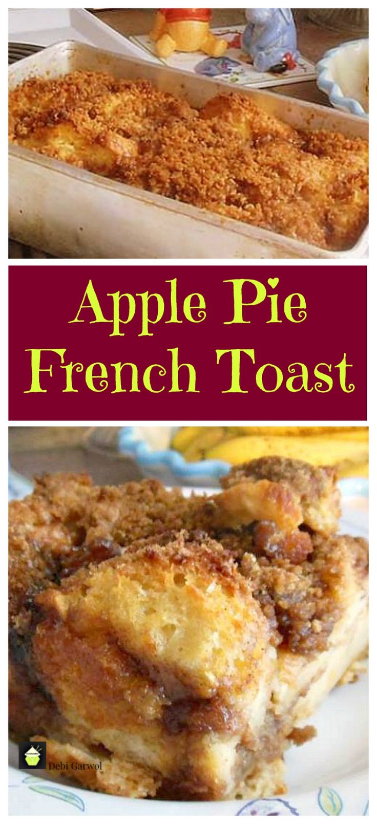 Apple Pie French Toast. A great easy and delicious recipe, serve hot or cold, it's yummy!
