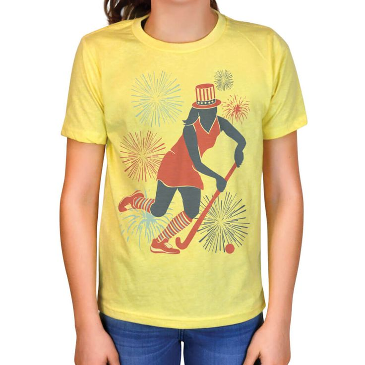 Field Hockey Vintage T Shirt Usa Field Hockey Girl Yellow Women S 2xl Field Hockey Usa Patriotic Apparel Field Hockey Girls Patriotic Outfit Field Hockey