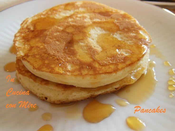 #gialloblogs #america #ricetta #foodporn Pancakes con maple syrup-Ricetta   In cucina con Mire