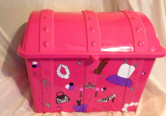 Princess Toys Box Storage Kids Girls Chest Bedroom Clothes: Treasure Chest Toy Box On Etsy, $32.50 Perfect For Dress