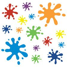 Multicoloured Wall Sticker Splats £22. Splatter colour all over your walls with this fun sticker set.
