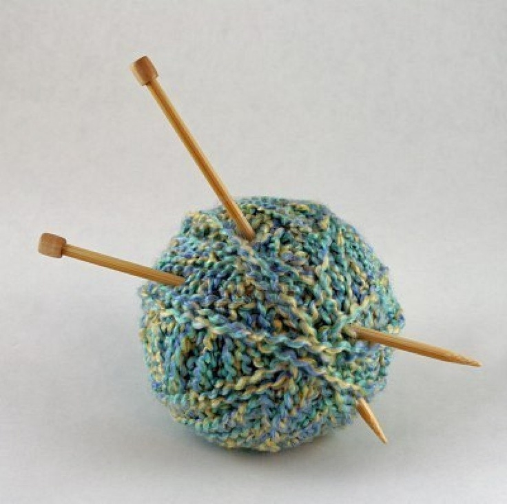Ball of yarn with needles