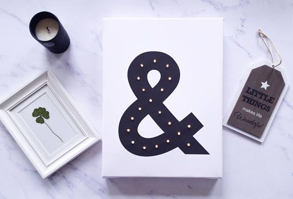 Ampersand ampersand print Letter lights Light up letters