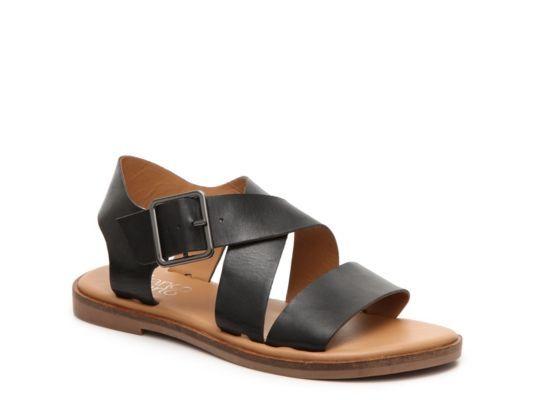 Women's Franco Sarto Kara Flat Sandal - Black