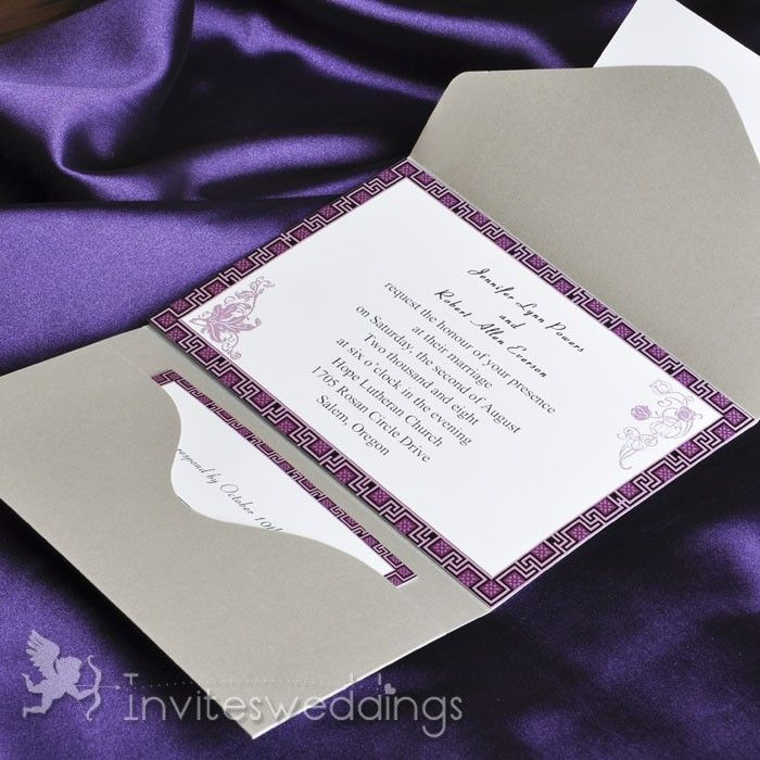 Purple And Silver Wedding Invitations 024 - Purple And Silver Wedding Invitations