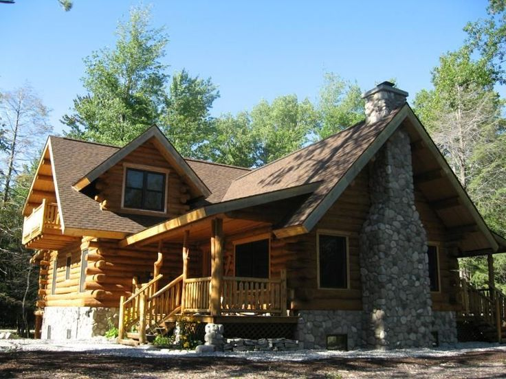 Thrilling Log House Wrap Around Deck Only $51,000 MUST SEE Interior & Floor Plans! #LogHomeDecorating #LogHomePlans