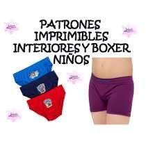 Moldes Patrones Interioresy Boxer Niño Envío Gratis