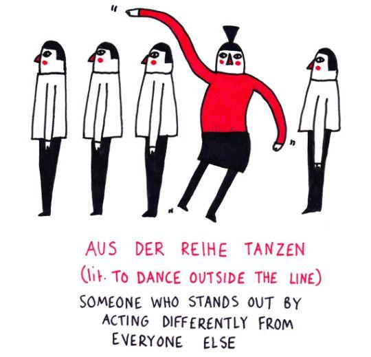 Aus der Reihe tanzen #German #Deutsch #idiom