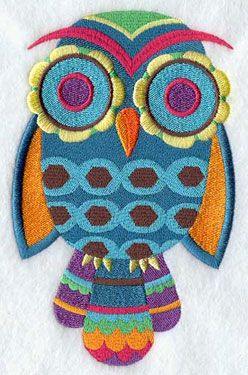 'Groovy Owl 1' from The Embroidery Library