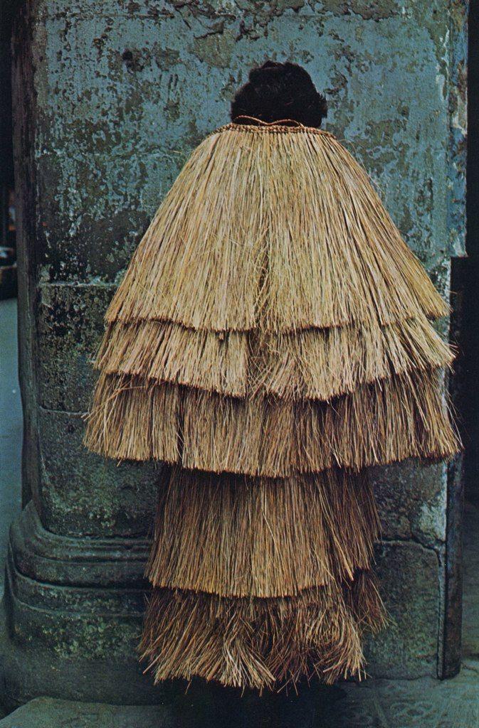 japanese straw raincoat
