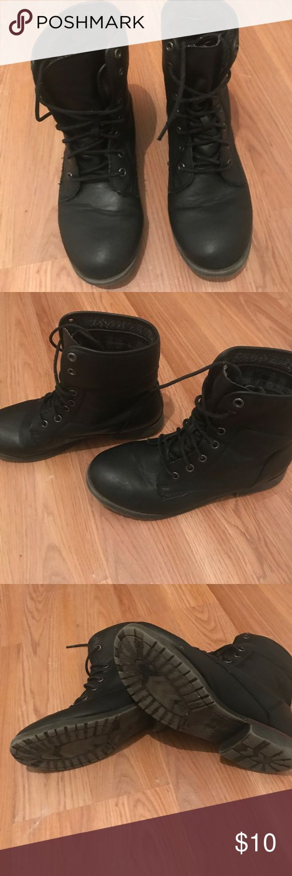 Combat boots Size 8 in great condition by rock & candy brought from Marshalls Shoes Combat & Moto Boots