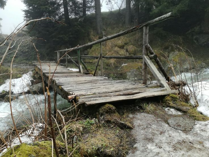 A bridge across a frenzy river