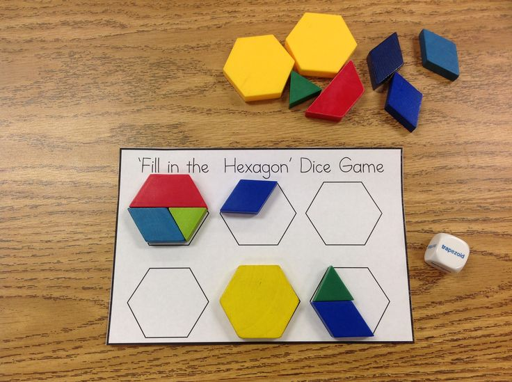 Shapes Pack with Game, Book, and Activities! Fill in the Hexagon Game shown in photo
