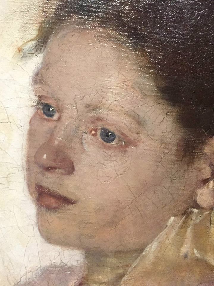 Olga Boznańska | Girl Lost in Thoughts, 1889 | oil, canvas | 85 x 65.8 cm (detail)