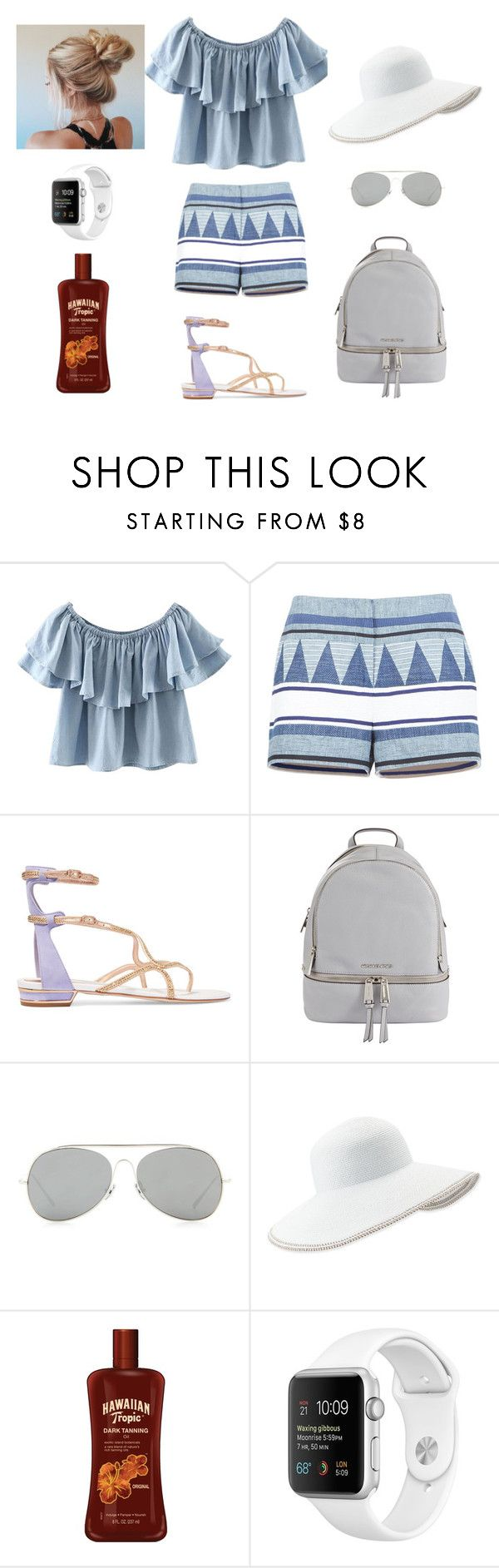 """""""Summer Barbecue Outfit"""" by kmachbitz on Polyvore featuring Chicnova Fashion, BCBGMAXAZRIA, René Caovilla, MICHAEL Michael Kors, Acne Studios and Eric Javits"""