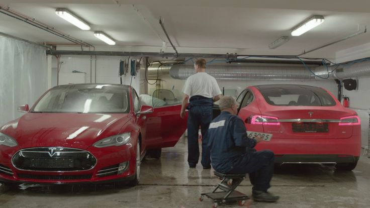 At a car wash spot in Oslo we treated cars like we treat clothes…