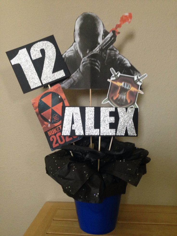 Call of duty black ops ii centerpiece parties for Black ops 3 decorations