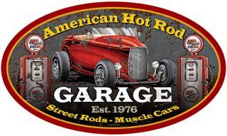 American Hot Rod Garage Sign