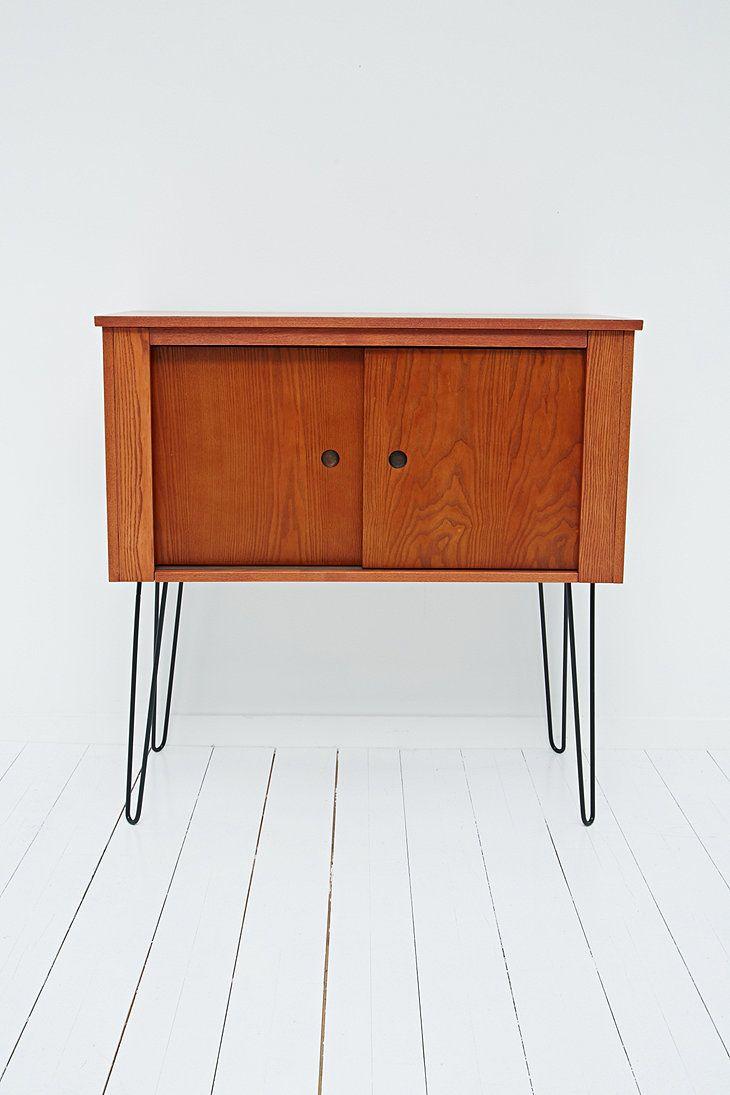 Teak Hairpin Cabinet | Danish Modern