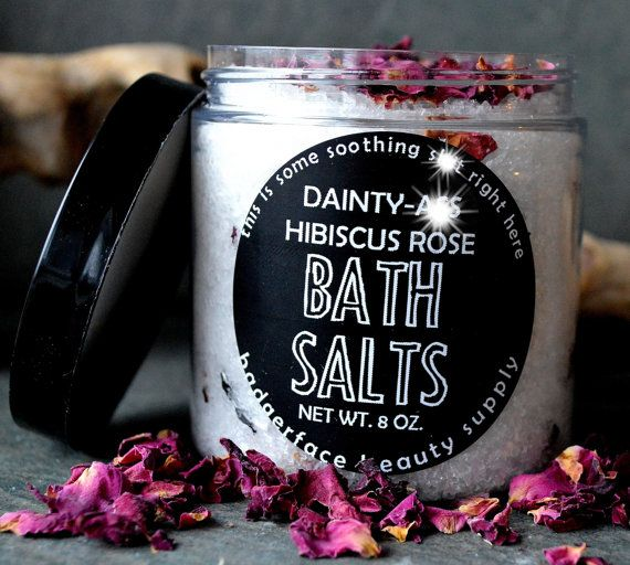 ROMANTIC GIFT for Her. Rose Bath Salts. Gift by badgerfacebeauty