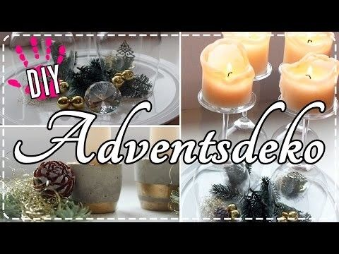 DIY- Last Minute Adventsdeko!   Moderne & edle Adventskränze!